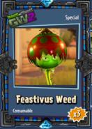Feastivus Weed Sticker
