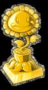 Gold Sunflower Trophy