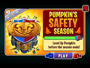 Pumpkin's Safety Season Ending