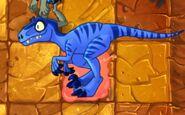 Velociraptor on Lava Tile