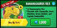 Bananasaurus Rex Pack