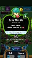 Grow Shroom stats