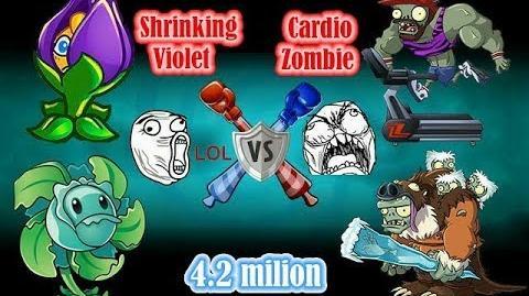 Cardio Zombie! Gargantuar Zombie! vs Shrinking Violet! Hurrikale PVZ 2-Gameplay Walkthrough