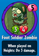 Receiving Foot Soldier Zombie