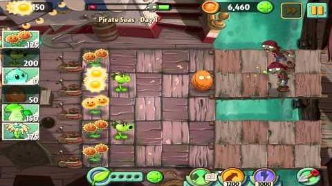 Plants vs Zombies 2 Pirate Seas Day 1 Walkthrough