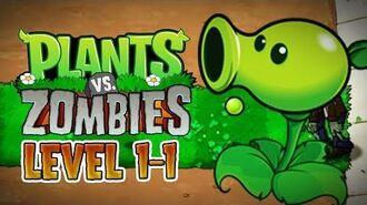 Plants vs. Zombies (PC) - Adventure - Level 1-1 Gameplay Playthrough