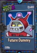 Close up of future dummy card