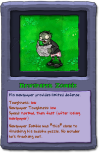 Almanac Card Newspaper Zombie