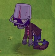Poisoned Buckethead Zombie