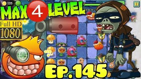 Plants vs. Zombies 2 (China) - Pomegranate Machine Gun MAX 4 level - Dark Ages Night 3 (Ep