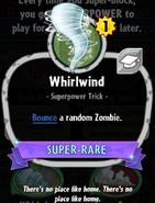 Whirlwind statistics