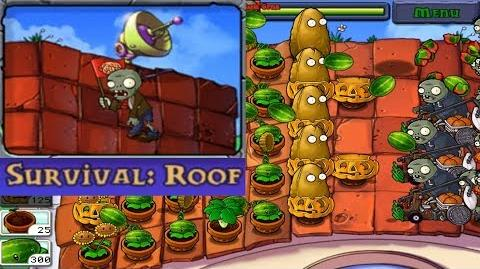 Plants vs. Zombies - Survival - Roof (Android Gameplay HD) Ep