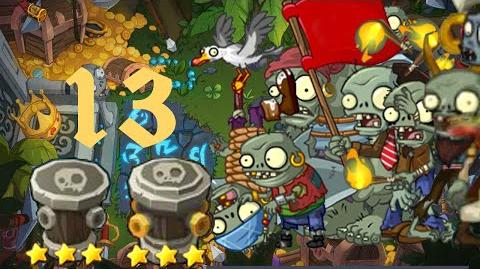 PvZ Online - Adventure Mode - Treasure Island 13