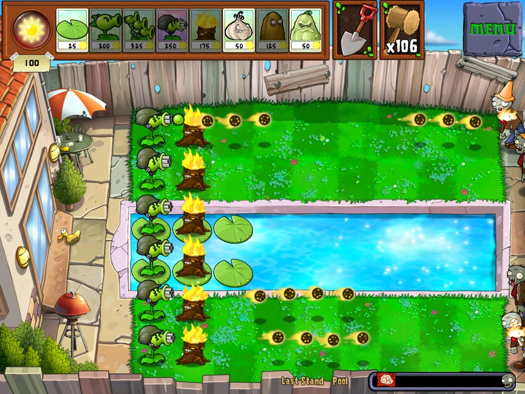 Last Stand: Pool | Plants vs  Zombies Wiki | FANDOM powered by Wikia