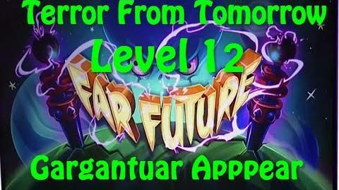 Terror From Tomorrow Level 12 Gargantuar Apppear Plants vs Zombies 2 Endless