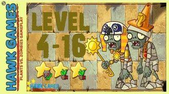 V1.0.81 Plants vs. Zombies All Stars - Ancient Egypt Level 4-16 4K 60FPS