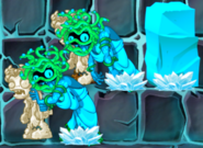 Frozen Zombie Medusa with Stone