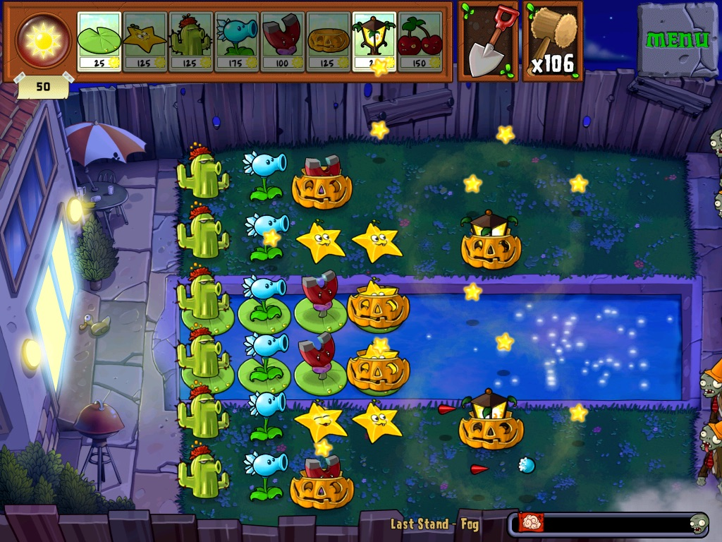 Last Stand: Fog | Plants vs  Zombies Wiki | FANDOM powered by Wikia
