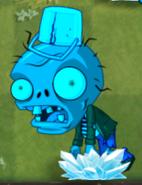 Frozen Big Brainz Buckethead Zombie