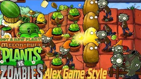 Plants vs. Zombies Adventure Got a Melon-pult level 5-8 Roof (Android Gameplay HD) Ep