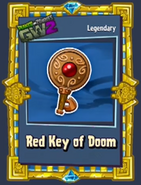 Red key of doom sticker