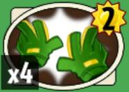 Gardening gloves card