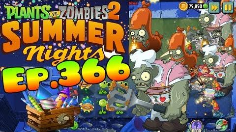 Plants vs. Zombies 2 - Event Summer Nights - Zombies with torches (Ep.366)