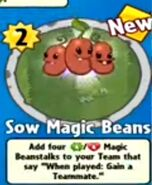Receiving Sow Magic Beans