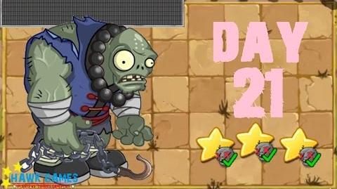 Plants vs. Zombies 2 China - Kongfu World Day 21 Bronze Matrix《植物大战僵尸2》- 功夫世界 21天