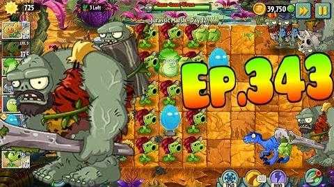 Plants vs. Zombies 2 New Jurassic Gargantuar - Jurassic Marsh Day 12 (Ep