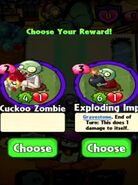 Choice between Cuckoo Zombie and Exploding Imp