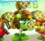 Gatling Pea on title screen