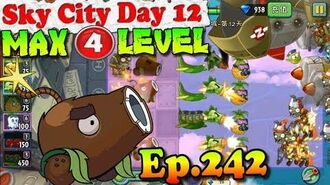 Plants vs. Zombies 2 (China) - Coconut Cannon MAX 4 level - Sky City Day 12 (Ep.242)
