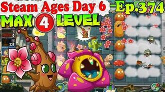 Plants vs. Zombies 2 (China) - Plumping Plummy MAX 4 level - Steam Ages Day 6 (Ep.374)