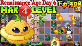 Plants vs. Zombies 2 (China) - Saucer MAX level 4 - Renaissance Age Day 6 (Ep.398)