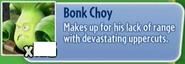 Bonk Choy gw