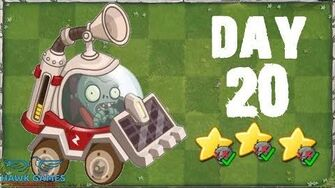 Plants vs Zombies 2 China - Modern Day Day 20 Solar Car Zombie 《植物大战僵尸2》- 摩登世界 20天