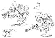 Marine biologist concept art from Art of PvZ