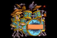 Tombstone headstonetile rare drumset