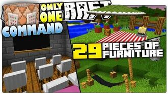 Minecraft - 5 Custom Commands That Add 29 New Furniture In Minecraft - Only One Command Block