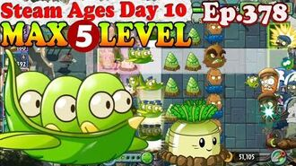 Plants vs. Zombies 2 (China) - Board Beans MAX 5 level - Steam Ages Day 10 (Ep.378)