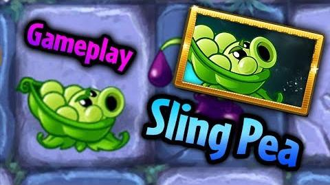 Plants vs. Zombies 2 Sling Pea Beta Gameplay