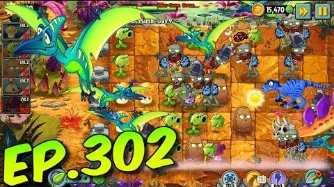 Plants vs. Zombies 2 New Dinosaur Pterodactyl - Jurassic Marsh Day 9 (Ep