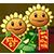 Twin sunflower costume 1