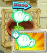 Electric Peashooter with his Boost Packet
