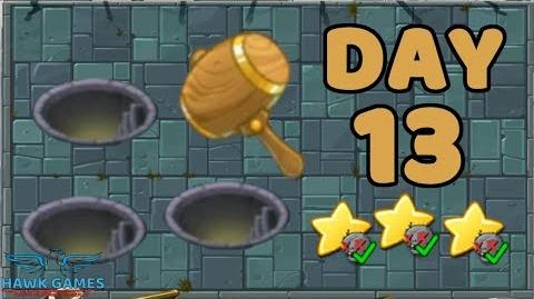 Plants vs Zombies 2 China - Steam Ages Day 13 Whack a Zombie 《植物大战僵尸2》- 蒸汽时代 13天