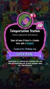 Teleport Station conjured by Thinking Cap