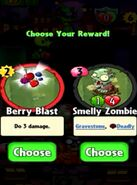 Choice between Berry Blast and Smelly Zombie