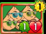 Clique Peas card