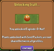 Explode-O-Nut Unlocked